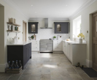 Belsay Dove Grey and White Kitchen