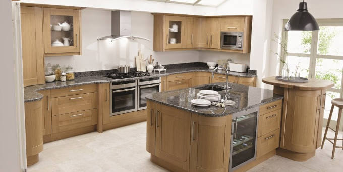 Timber Kitchen with Island