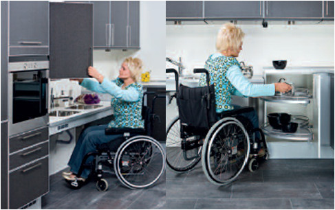 Adaptive kitchen in use