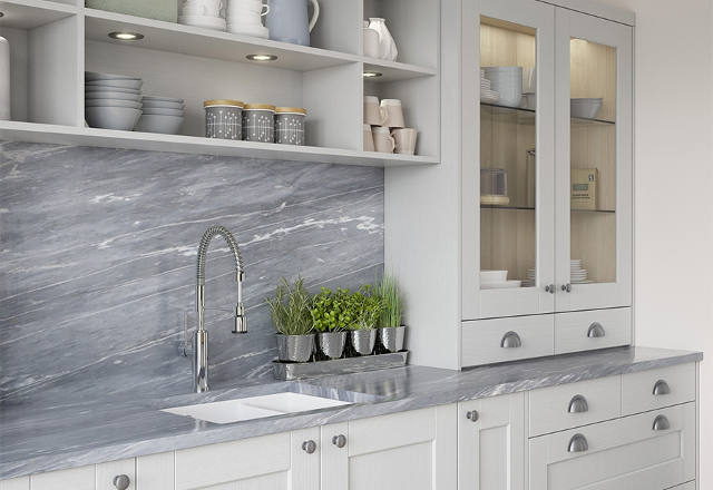 A new sophisticated twist on the Shaker kitchen the Kensington range has a sloped internal door profile a PVC exterior and woodgrain finish to create a ... & New ranges and colours from Kitchen Stori | Price Kitchens