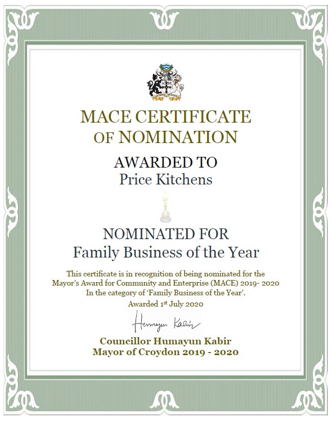 Family Business of the Year Certificate