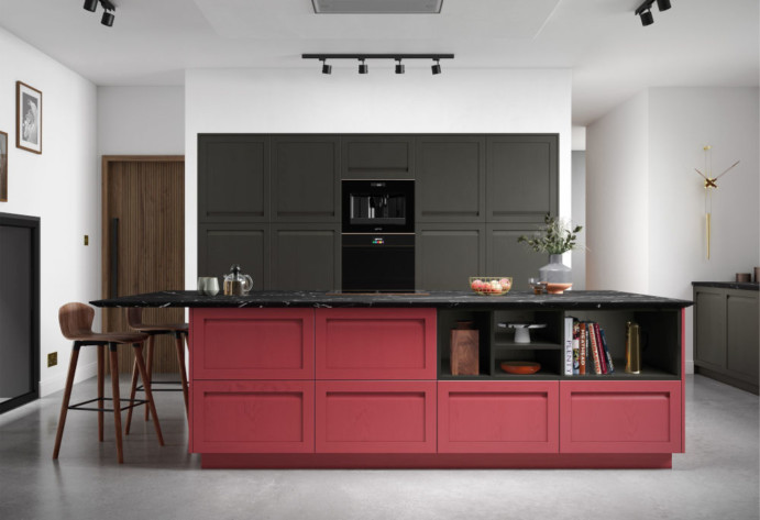 Graphite and Chicory Red Harbourne Kitchen