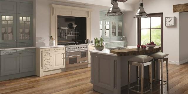 Period Kitchen Design. Country Kitchen With A Freestanding Work