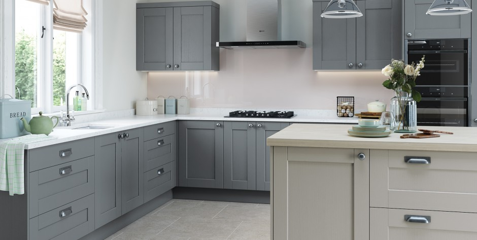 Kensington Light Grey and Dust Grey Kitchen
