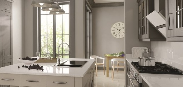 Madison Painted Lava & Madison Painted Light Grey kitchen