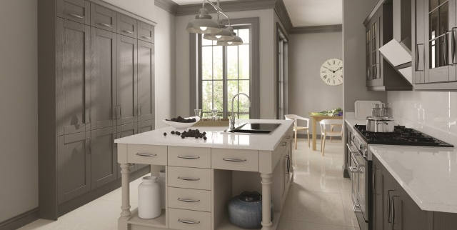 Madison Painted Lave and Light Grey Kitchen Image
