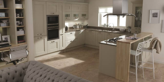 Timber Kitchen with Double Oven