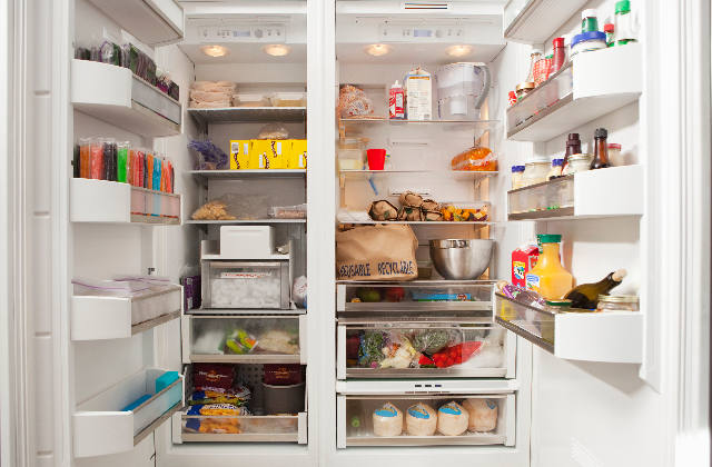 Open Fridge full of Food