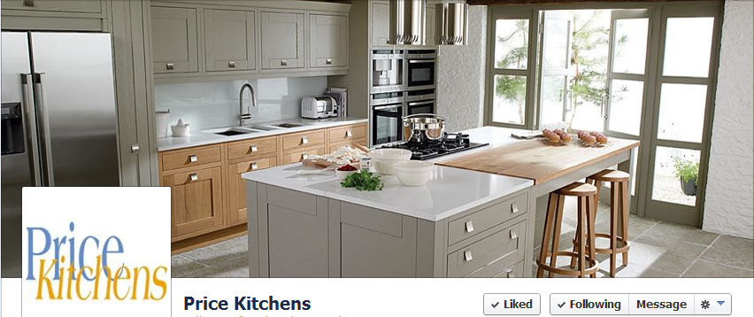 Price Kitchens Facebook page