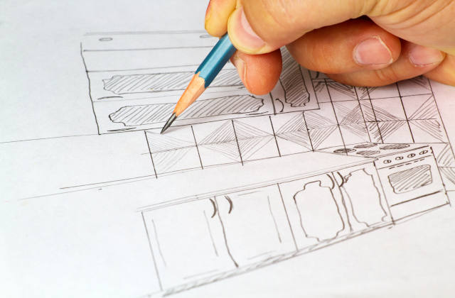 Sketch of kitchen furniture image