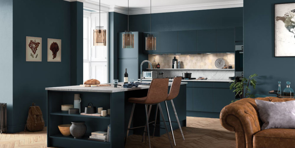 Strada Matte Marine Kitchen