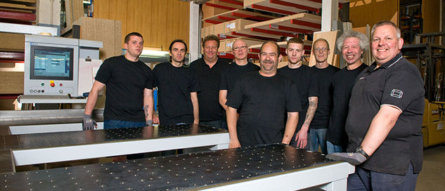 Price Kitchens factory staff team photo